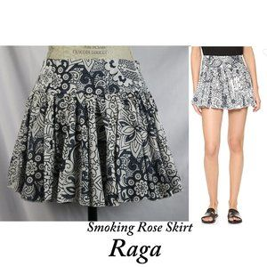 Raga Smoking Rose Ruffle Floral Mini Skirt S